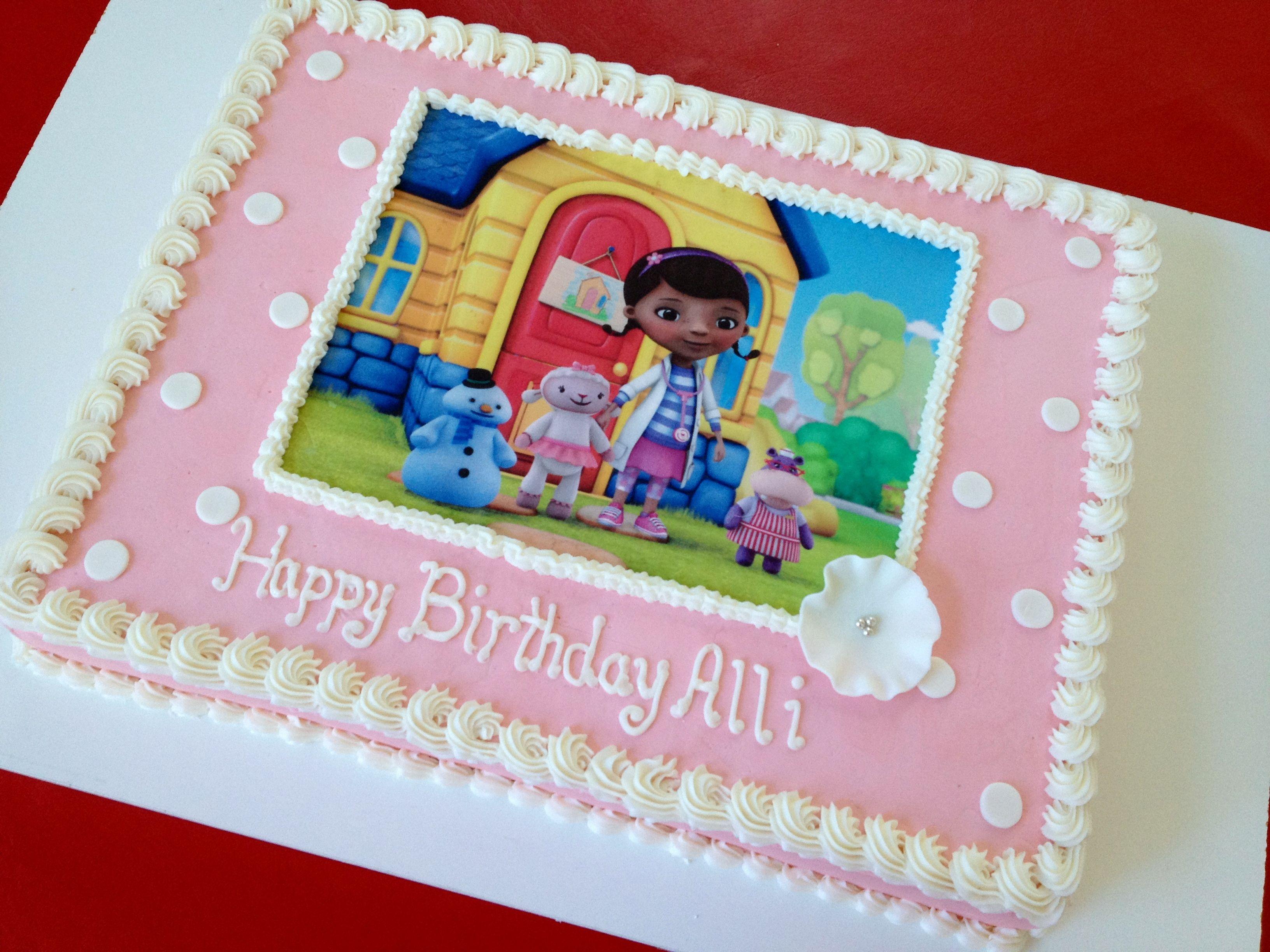 Doc Mcstuffins Edible Image Sheet Cake Doc Mcstuffins Birthday