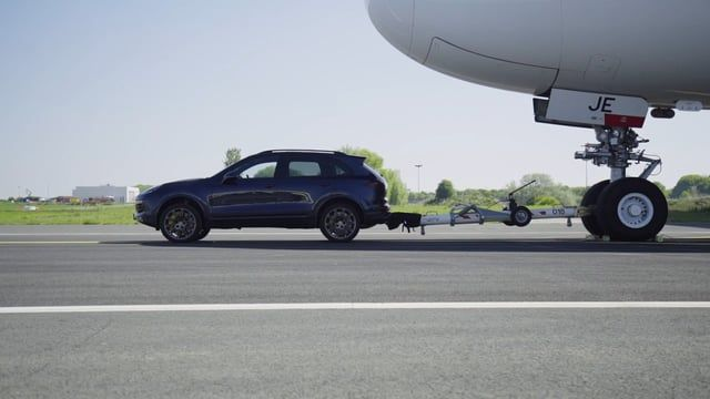 Watch A Porsche Cayenne Tow An Airbus A380 Earn A World Record