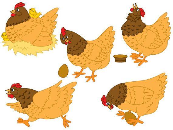 Digital Vector Farm, Bird, Hen, Egg