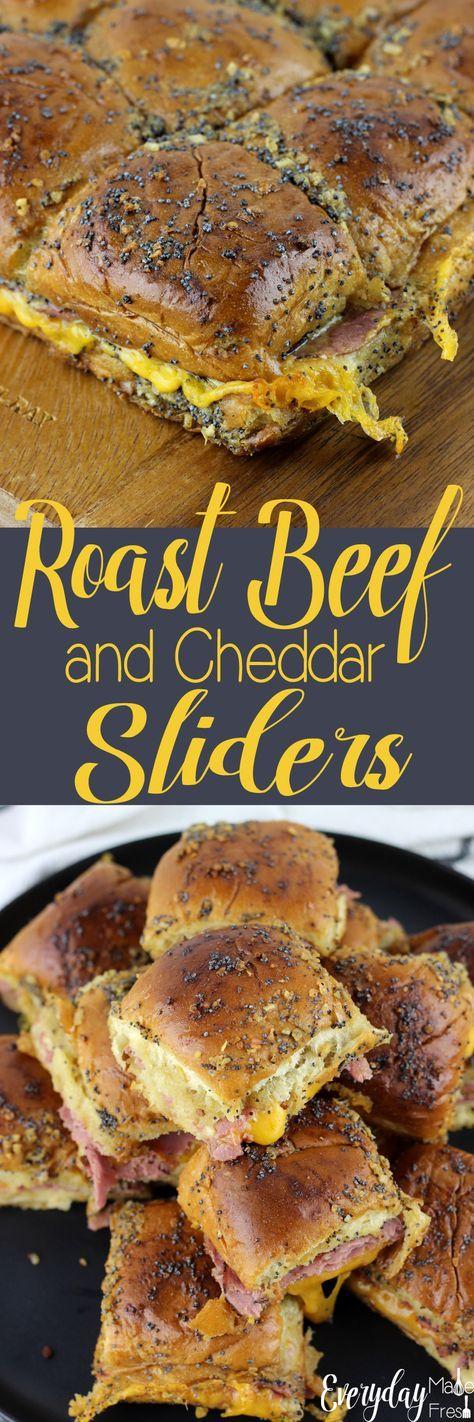 Roast Beef and Cheddar Sliders | Rezept | Internationale Küche ...