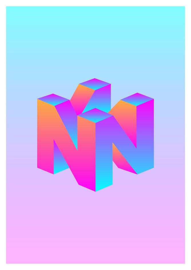 I made this Vaporwave inspired Nintendo logo what do you