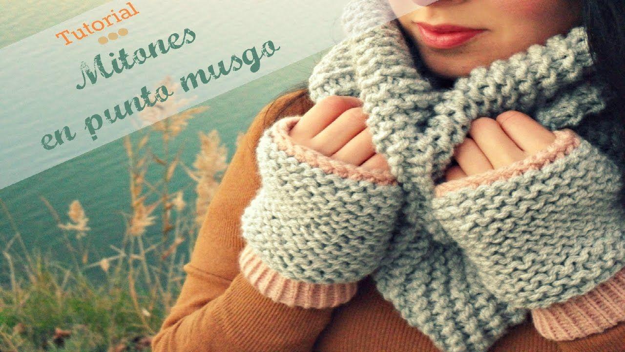 Fantástico Mitones Sin Dedos Con El Patrón De Crochet Solapa Fotos ...