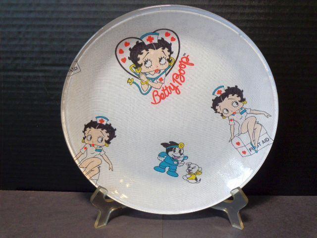 Betty Boop Plate 01 Nurse Design 10 Inches Round Nurse Design