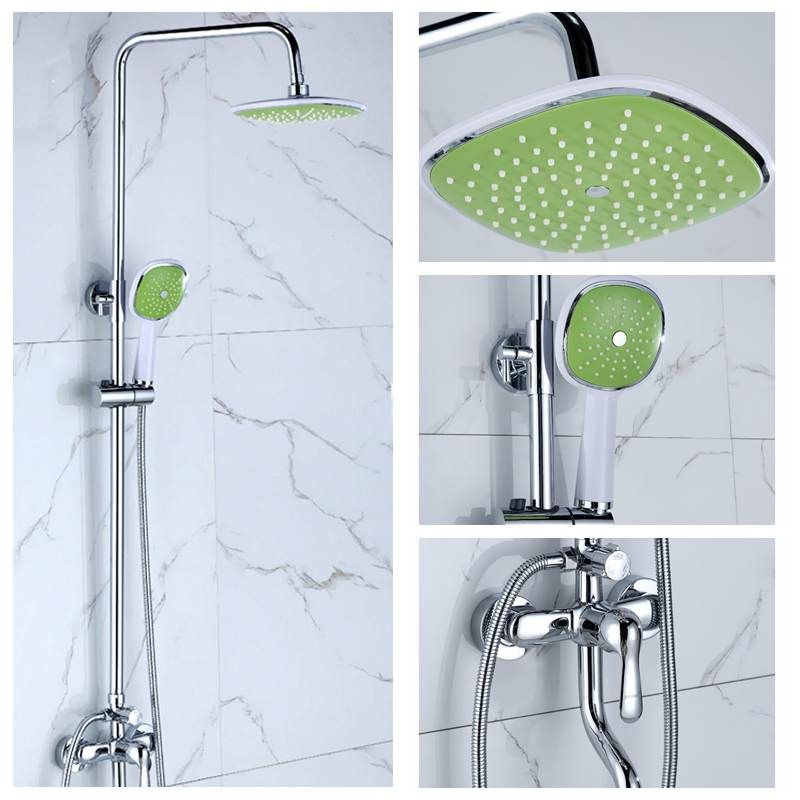 Bathroom Shower Set 3 Mode Rainfall Shower Head Hand Held Shower