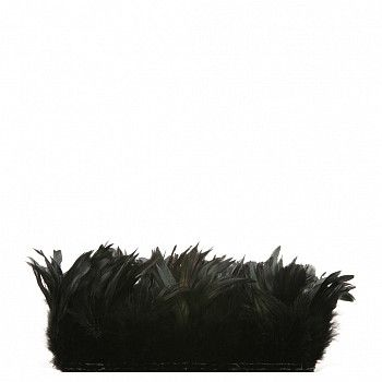"Rooster Schlappen-Half Bronze - Black Product SKU: CXHBS4_6--BL Size: 4-6"" Dyed (strung feathers) Shop Feathers: www.featherplace.com"