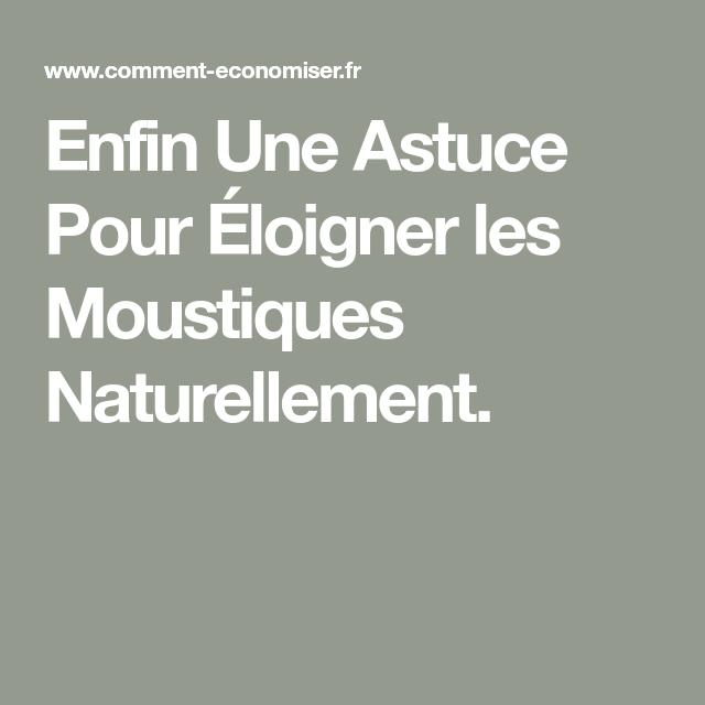 Enfin Une Astuce Pour Éloigner les Moustiques Naturellement.