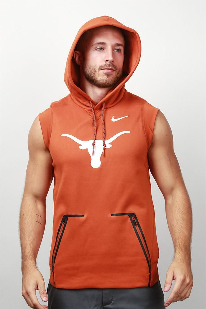 5e8cb61580040 Be active outside no matter the weather with this Nike sleeveless hoodie -  all in Burnt Orange!