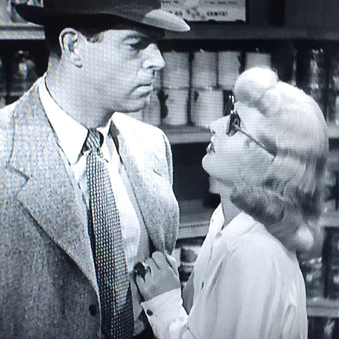 """Then she asked """"Will This week be productive?"""" #inspiration #doubleindemnity #classicfilm #vintage #1950s #art #artist #artblog #artofvisuals"""