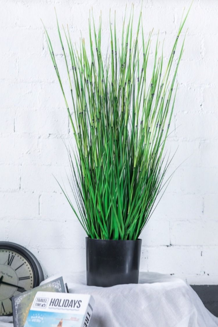 Ncyp 40 9 Artificial Plants For Home Decor Indoor Large Natural Looking Faux Fake Tall Rushes Gr Herb Horsetail Reed Marsh Bamboo Plant With Planter