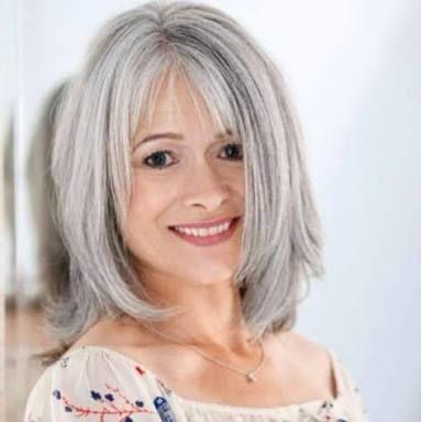 Image Result For Growing Out Grey Hair With Highlights Frisuren Graue Haare Coole Frisuren Graue Frisuren