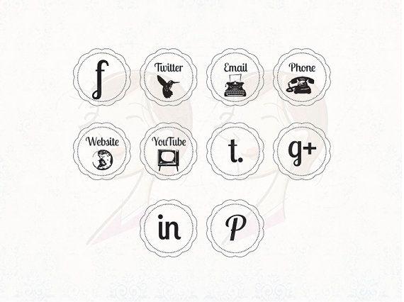 Vintage Icons Social Media Business Facebook By Maypldigitalart 6 20 Vintage Icons Branding Inspiration Social Media Business