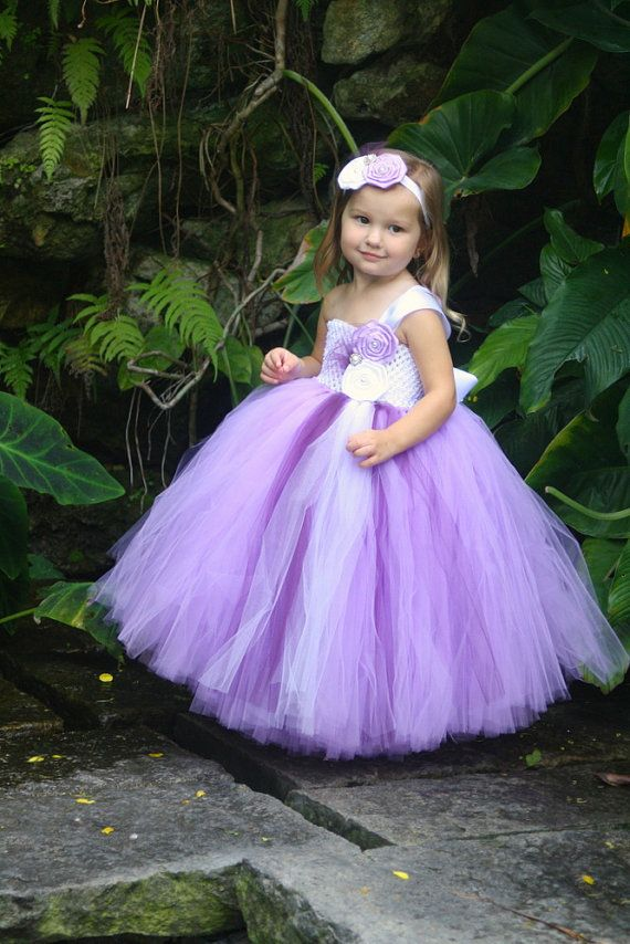 I think we could make this! Purple Flower Girl Tutu Dress ... - photo #19