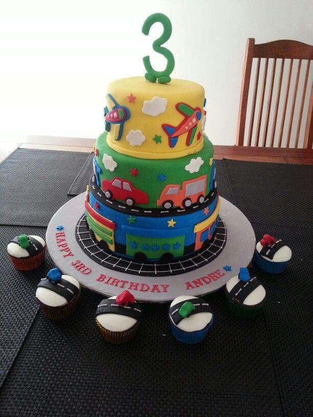 Excellent Chocolate Mud Cake Three Tier Plane Truck Car Train Cake Gluten Personalised Birthday Cards Beptaeletsinfo