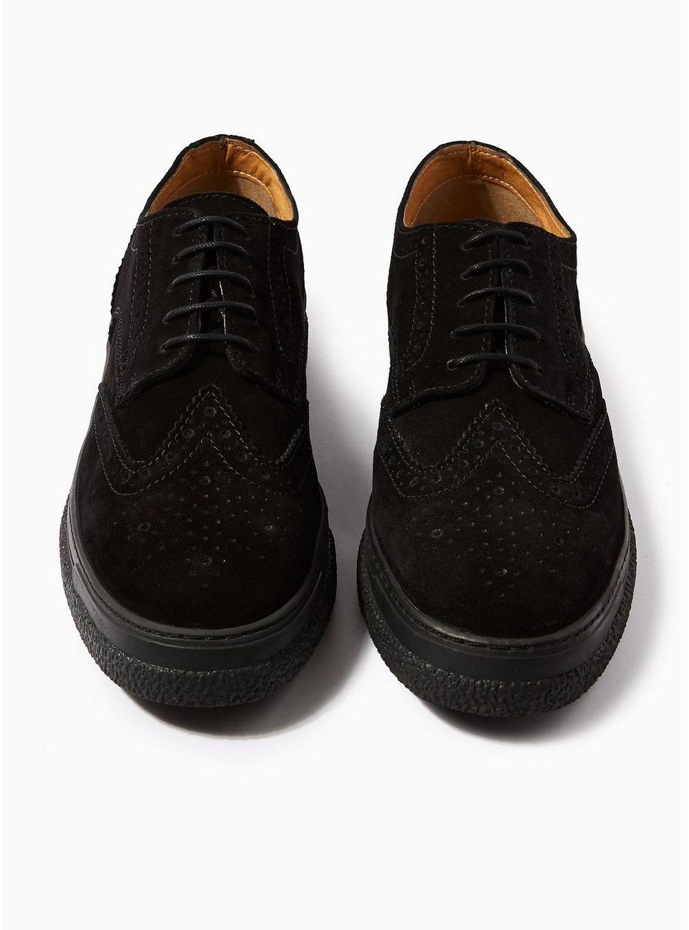 Black Suede Vesper Brogues Men S Smart Shoes Brogues Shoes Accessories Topman