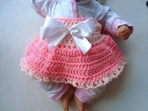 CROCHET DIAPER COVER SKIRT, for baby, crochet pattern | vestidos ...
