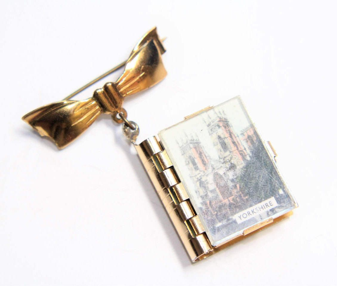 Yorkshire Views Huggy Souvenir Brooch Small Pull Out Views Photos Mini Booklet (c1950s) by GillardAndMay on Etsy
