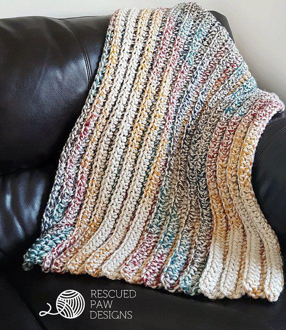 Chunky Crochet Blanket 5 Sizes Free Crochet Afghan Pattern