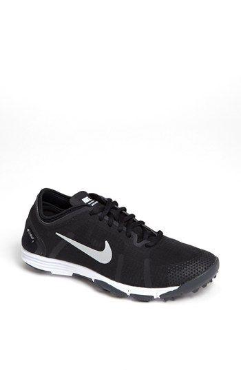 Nike 'LunarElement' Training Shoe (Women) Grey/ Violet/ White 12 M