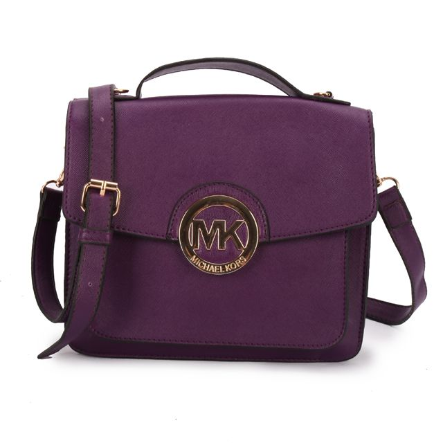michael kors purses outlet online 4z71  Michael Kors Outlet  Women's Fashion Show! Michael Kors Big Logo Medium  Purple Crossbody Bags