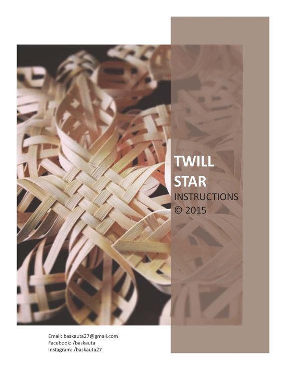 Woven Twill Star PDF digital instructions directions tutorial basket