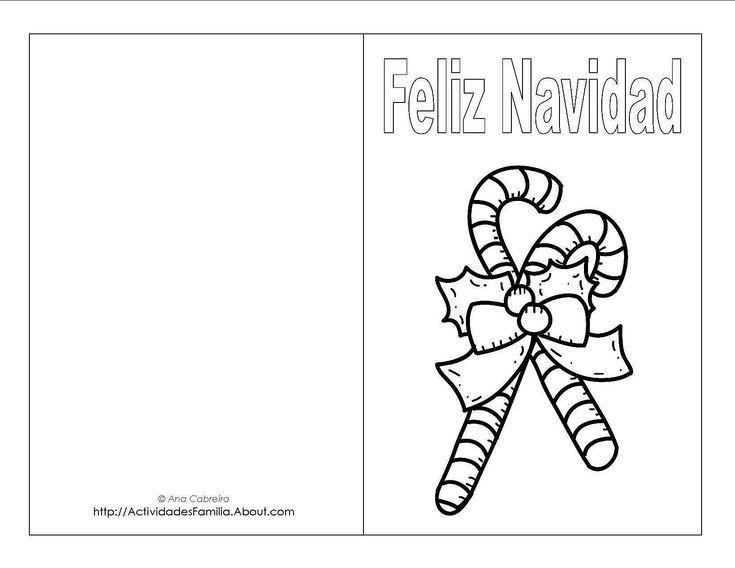 Descargra Gratis Tarjetas de Navidad para colorear Tarjeta de - navidad para colorear