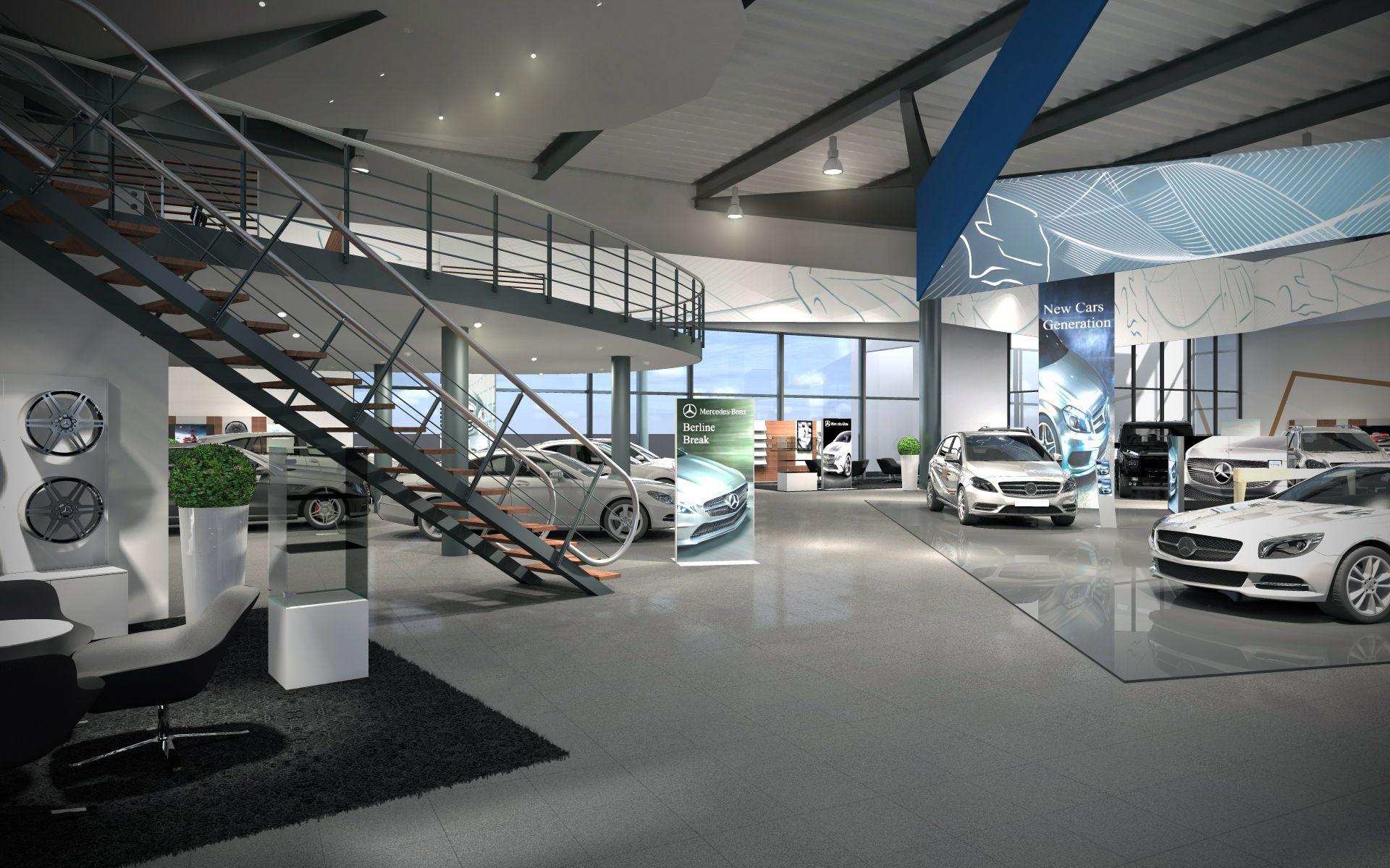 3d Lab Visualisaties Interieur Showroom Interior Concept For