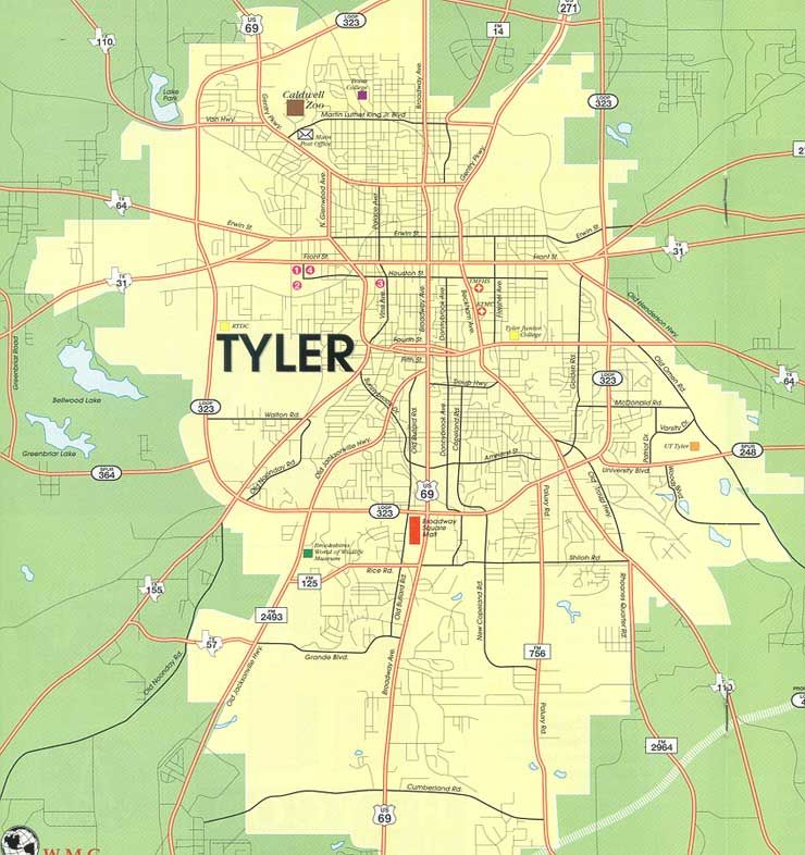 city map of tyler tx google search maps and topography