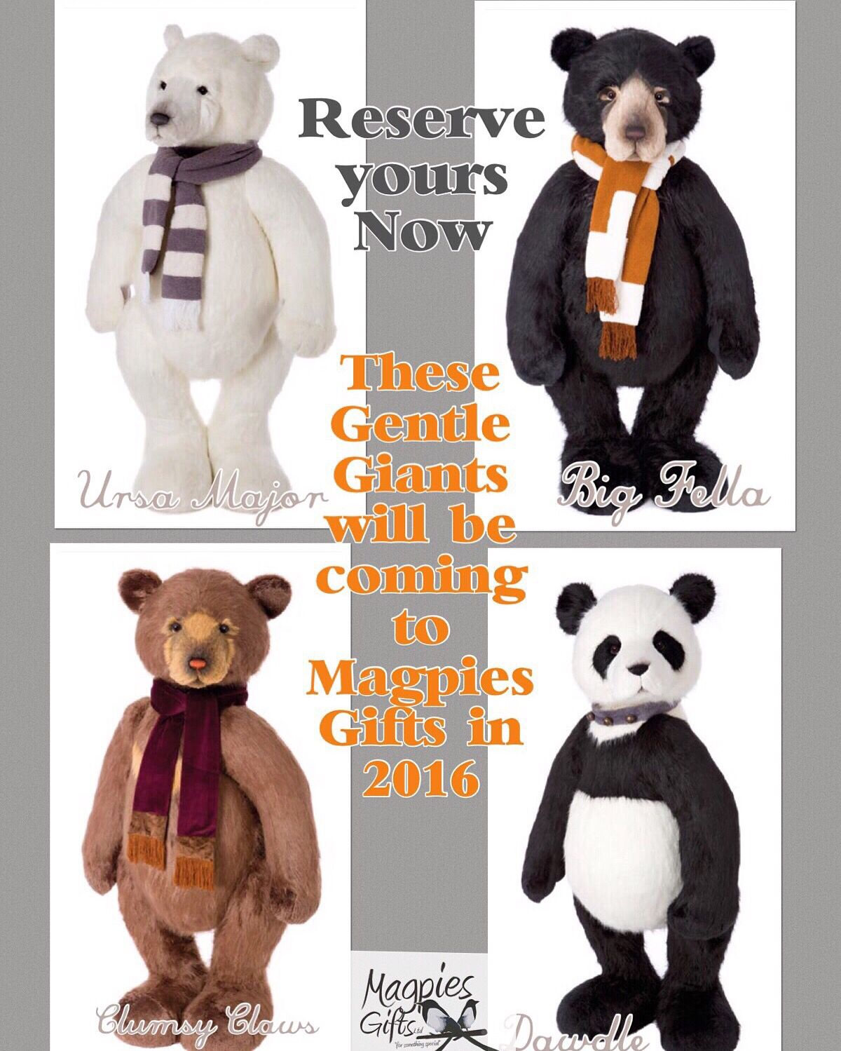 Pin by Magpies Gifts on Charlie Bears Plush Charlie