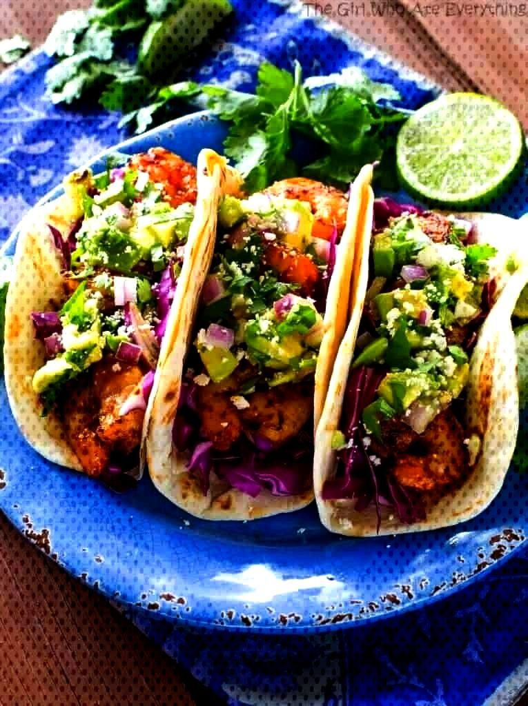 Shrimp Tacos with Avocado Salsa are light and refreshing!These Grilled Shrimp Tacos with Avocado Sa
