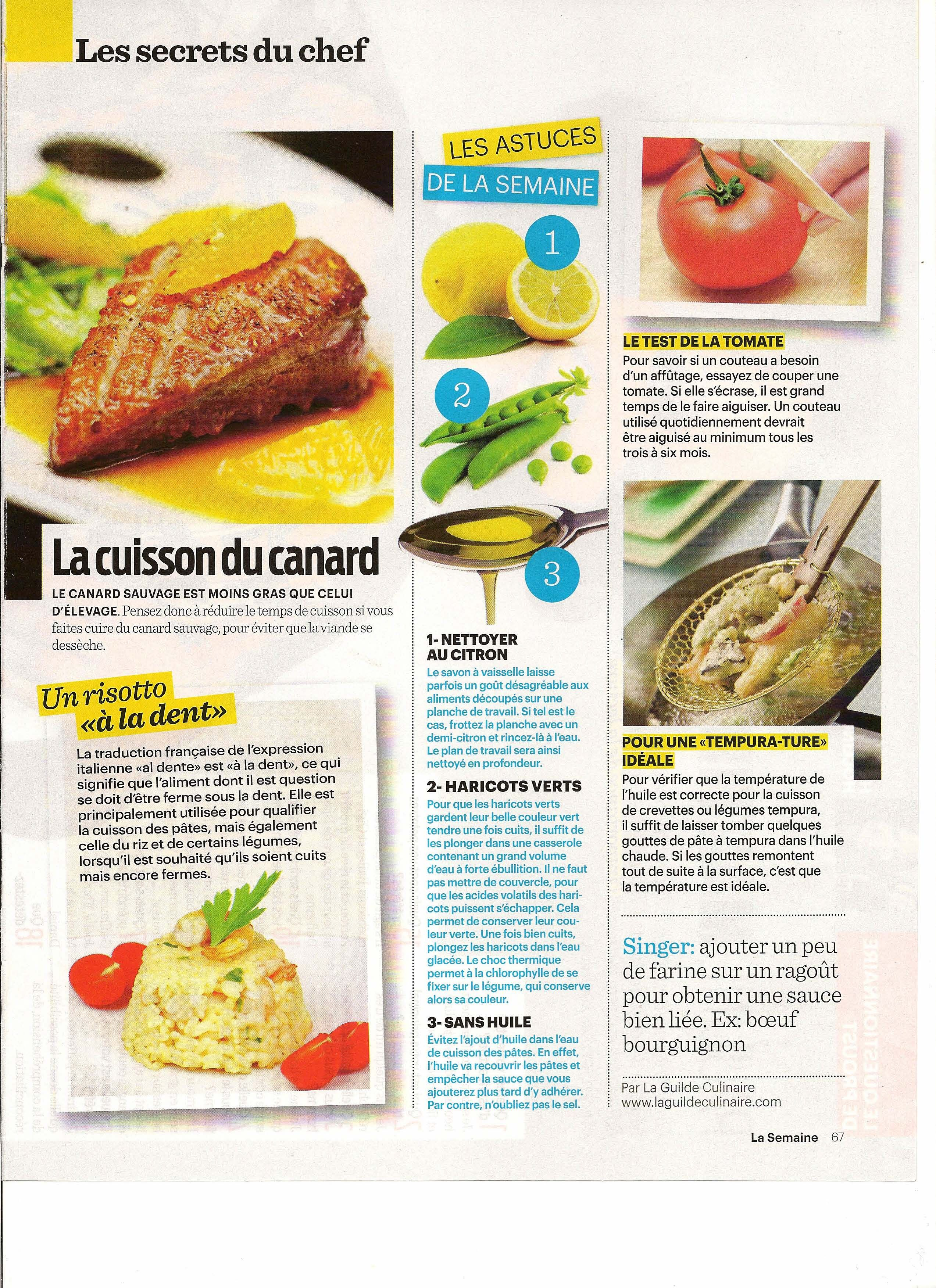 Alimentation:  Les Secrets du Chef: La cuisson du canard - Frawsy