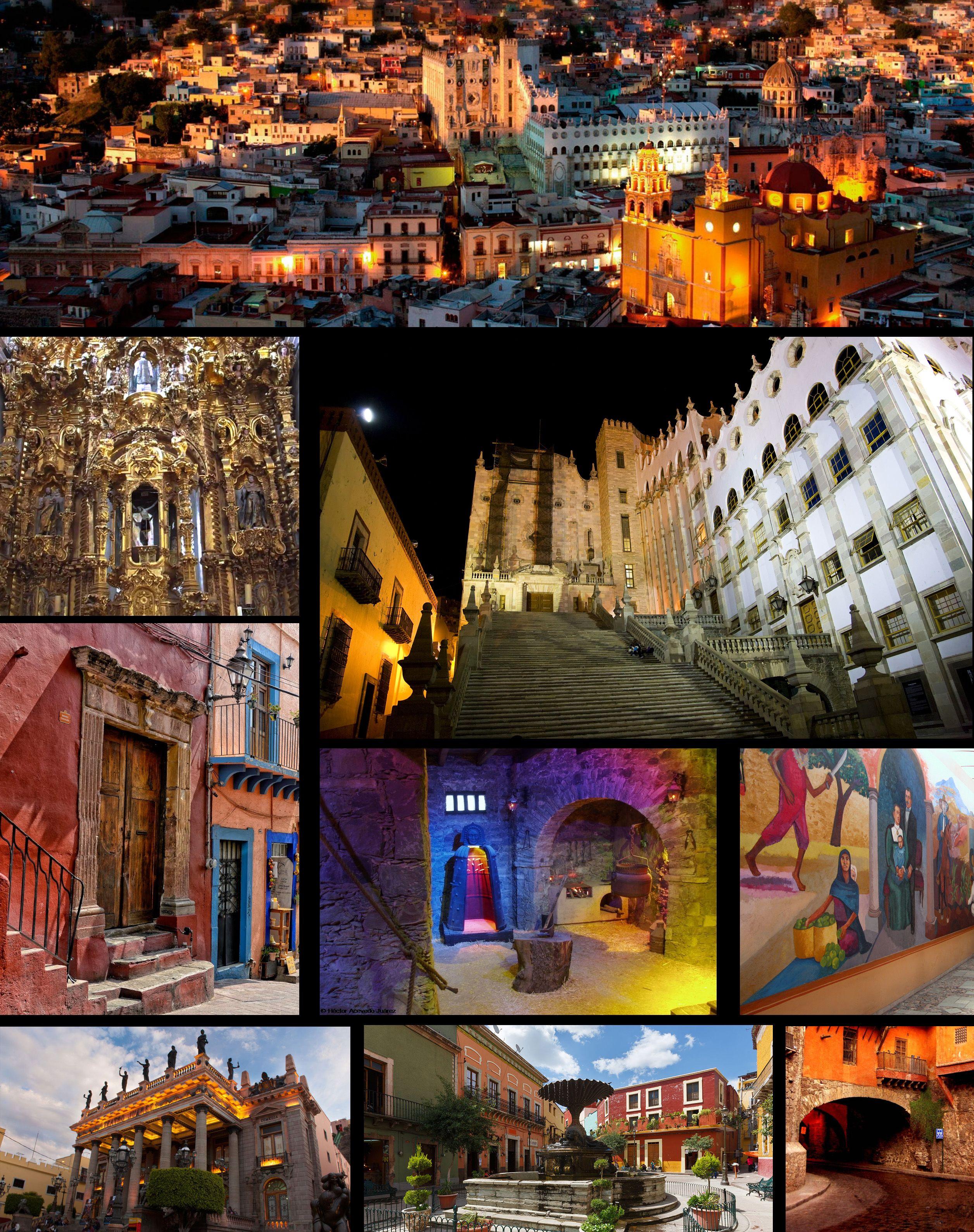 Atractivos Turísticos de la Ciudad de Guanajuato   Ciudad de guanajuato,  Guanajuato, Destinos mexico