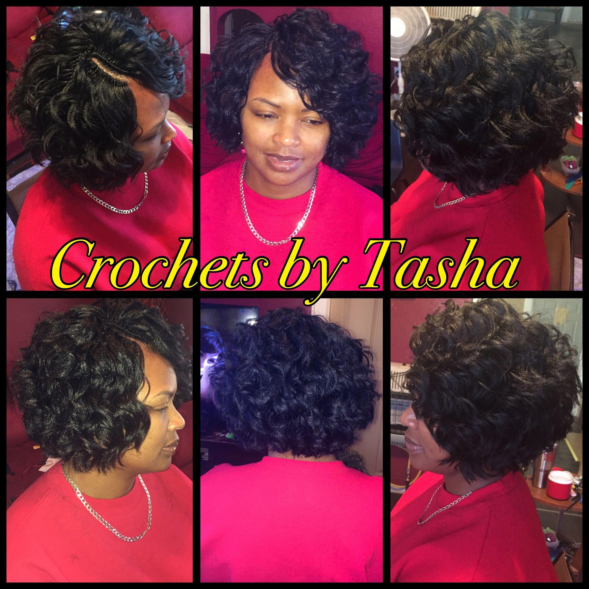 Crochet Braids Bob Hair is Ocean Wave by Kima This is so pretty