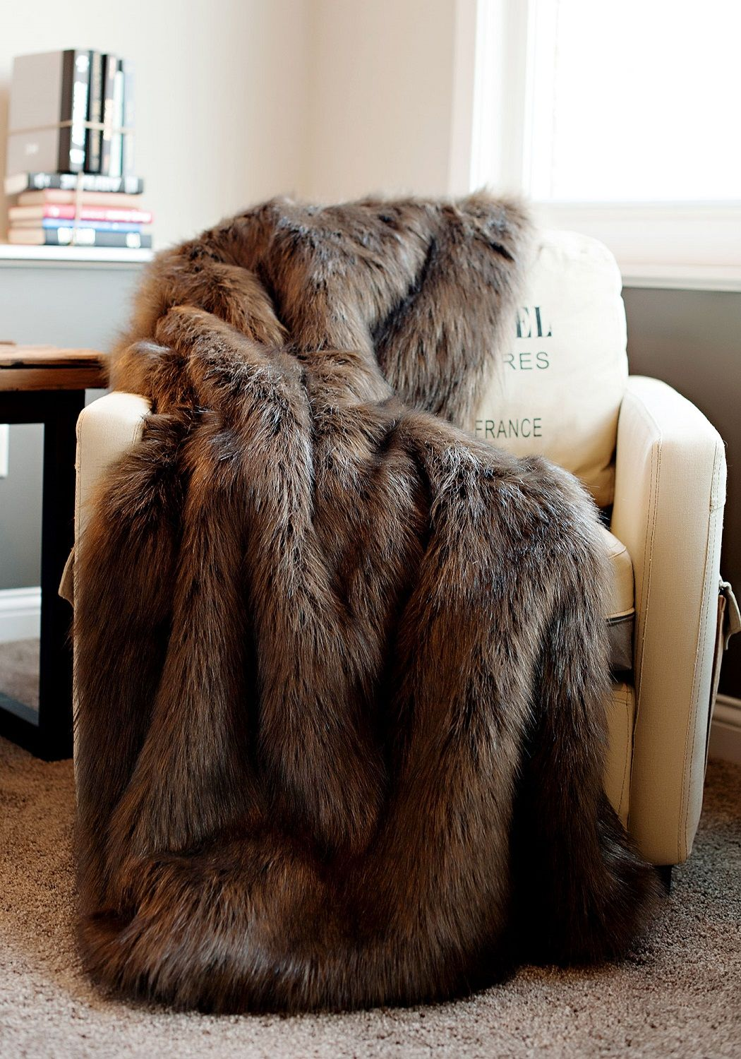 Luxury Fur Faux Throws Throw For Couch Sofa Decorative