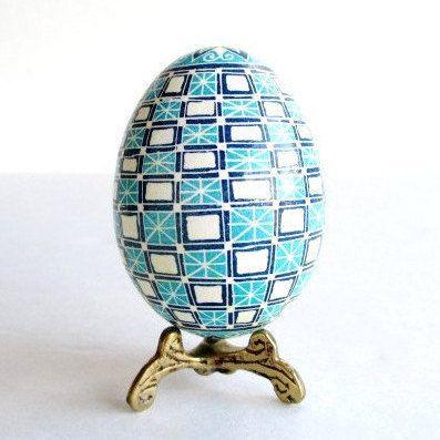 Blue pysanka ukrainian easter egg hand painted perfect gift blue pysanka ukrainian easter egg hand painted perfect gift negle Image collections