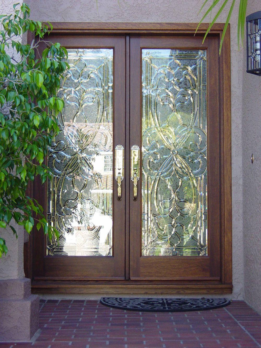 Double entry wood doors doors orangecounty pinned for friends