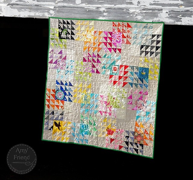 winged square quilt - by @duringquiettime via instagram