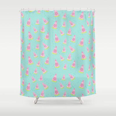 Watermelon Punch (Peppermint Mini Print Edition) Shower Curtain