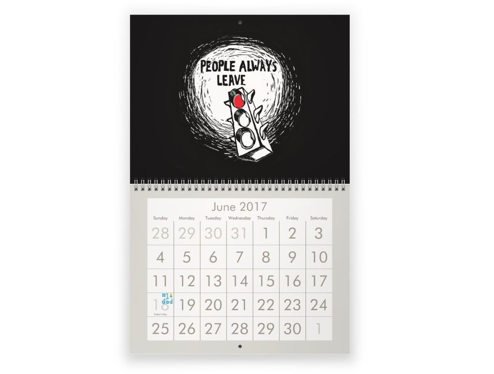 PeytonS Artwork  Wall Calendar  One Tree Hill  One Tree