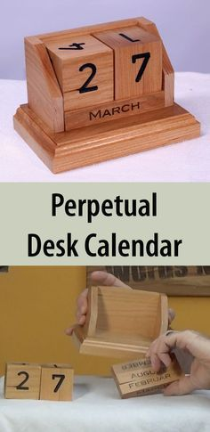 Perpetual Desk Calendar in Cherry - All Make one out of scrap wood. Makes a wonderful gift!