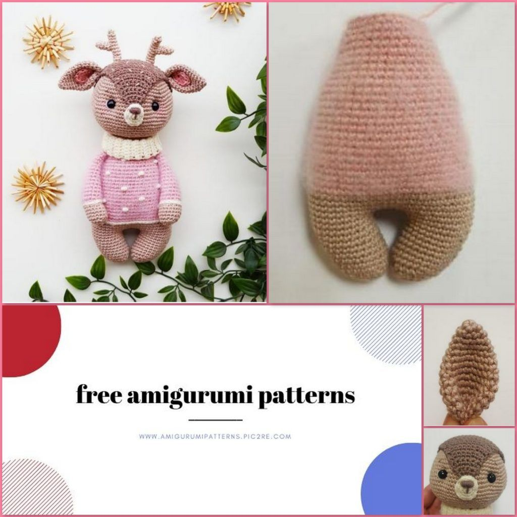 Amigurumi Reindeer Free Crochet Patterns (With images)   Vzory ...   1024x1024