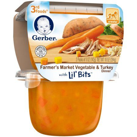 Gerber 3rd Foods Lil Bits Farmers Market Vegetable Turkey Dinner