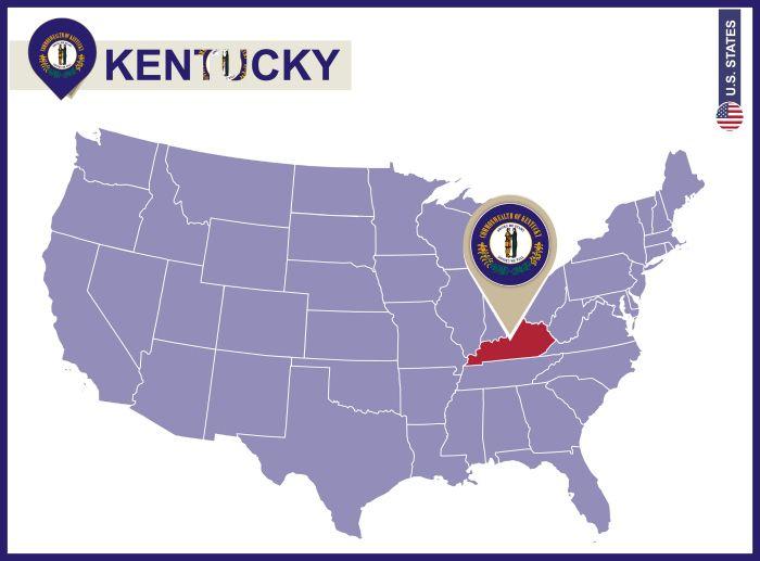 Notebooking Across The USA Kentucky Unit Study Kentucky Flag - Us map of kentucky