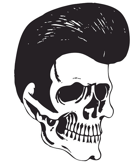 Mr Presley As A Skull Sticker