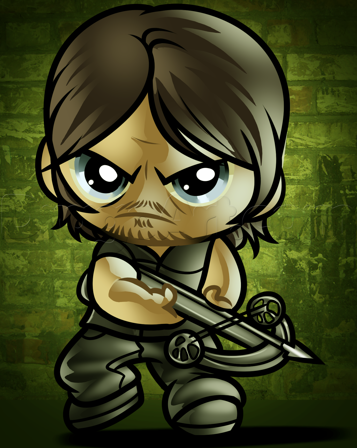 How To Draw Chibi Daryl by Dawn Dibujos Ilustraciones