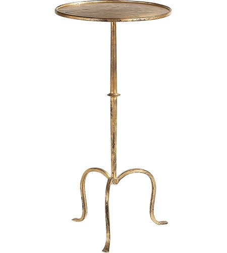 Studio Martini 24 X 12 Inch Gilded Iron Accent Table Iron Accent Table Visual Comfort Accent Table