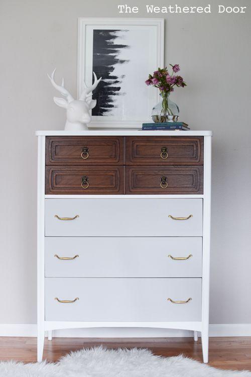 White Wood And Grey Modern Dresser Wd 6