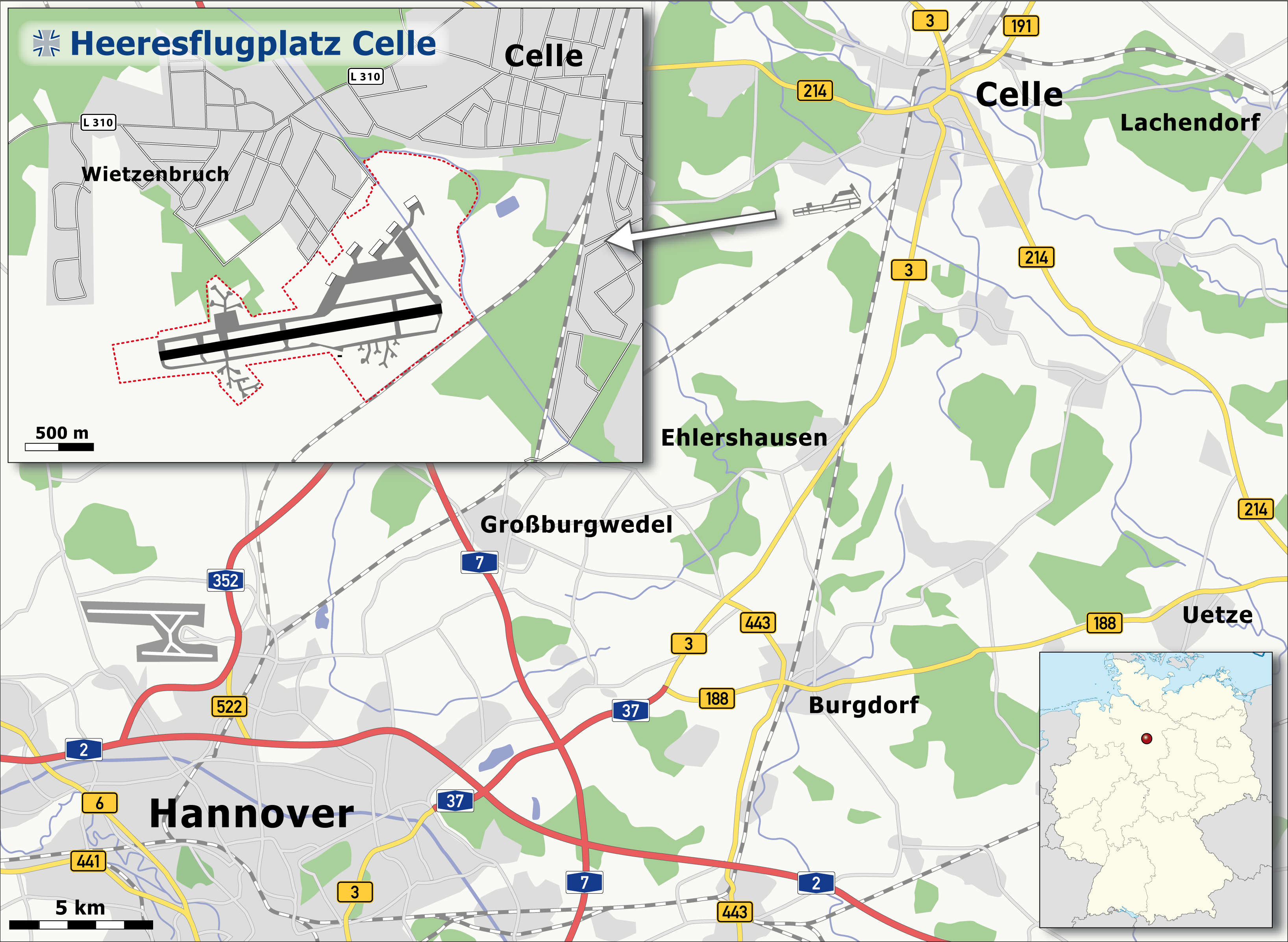 Map of Celle Air Base Celle Germany Pinterest Firs