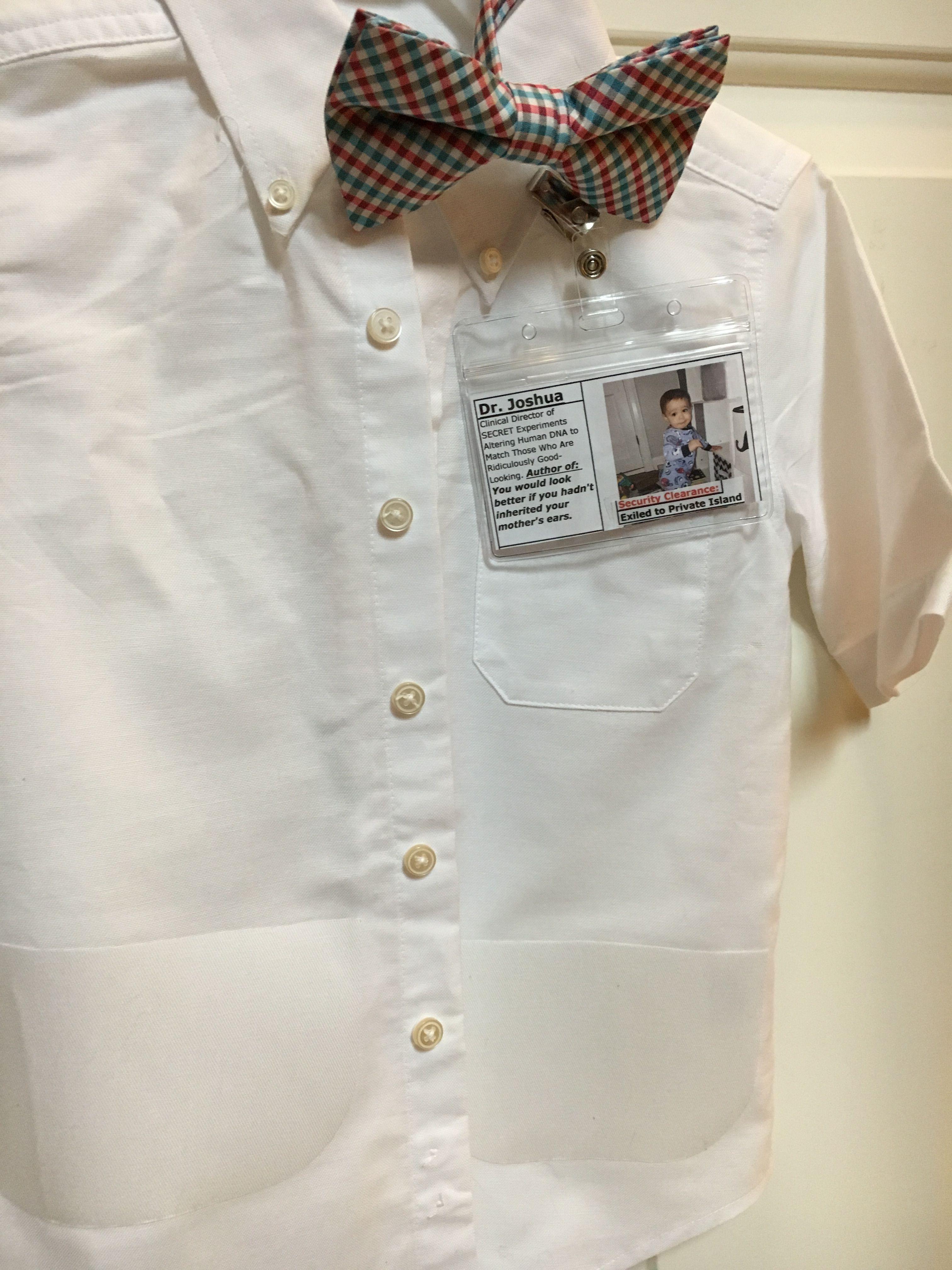 To Make The Lab Coats I Found Small Mens Boys Dress Shirts
