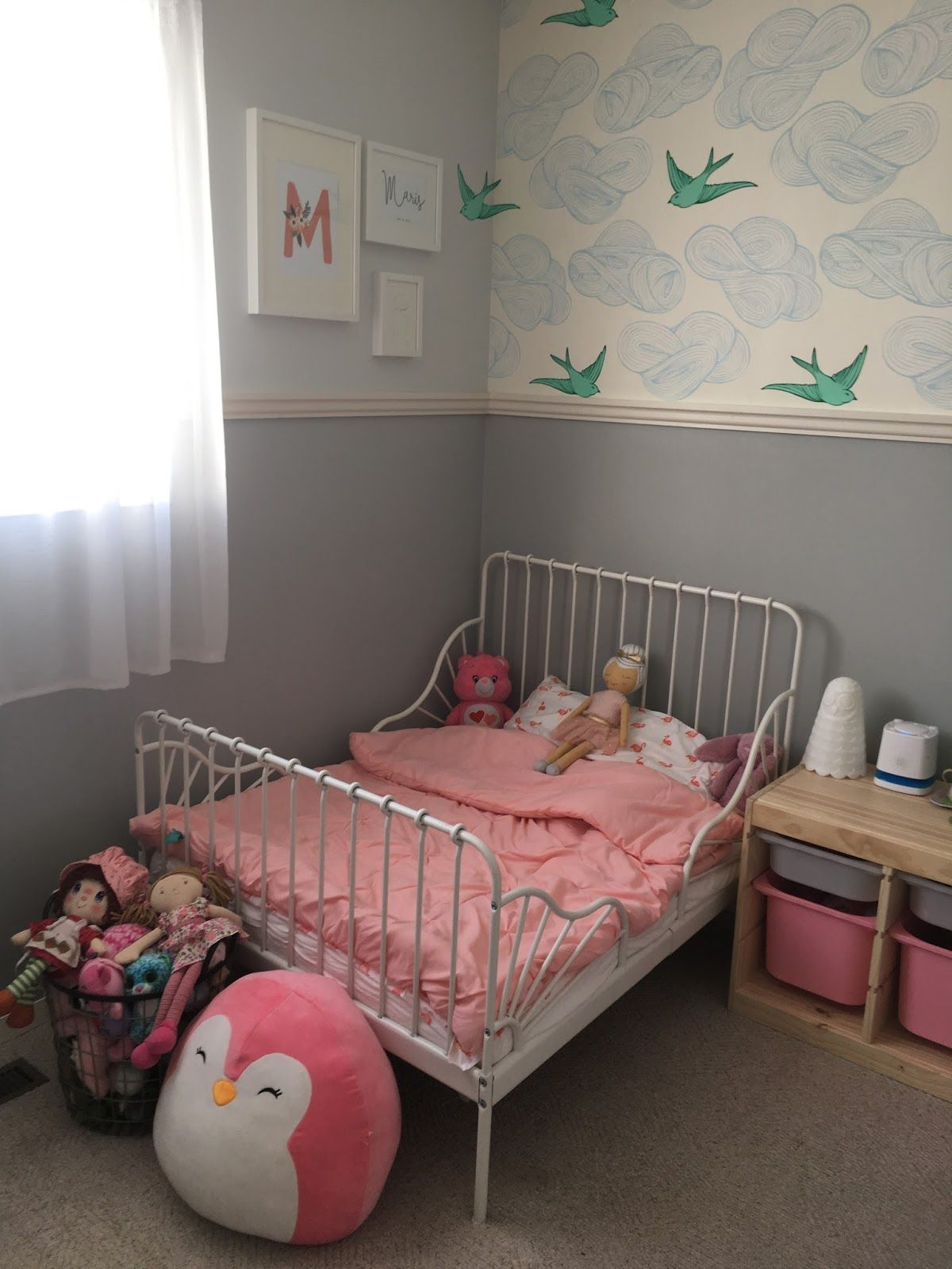 Toddler girl bedroom makeover with IKEA Minnen bed | ikea ...