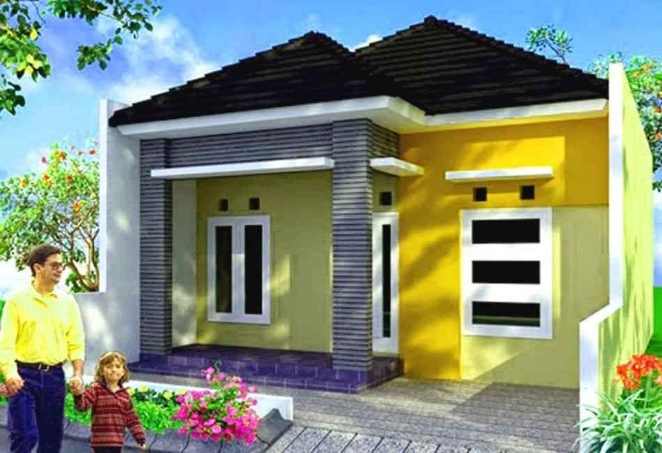 Bagian Depan Kombinasi Warna Cat Rumah Hijau Muda - Content